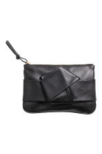 Leather pouch - Black - Ladies | H&M 1