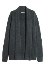 Shawl-collar cardigan - Dark grey - Ladies | H&M 2