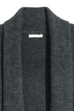 Shawl-collar cardigan - Dark grey - Ladies | H&M 3
