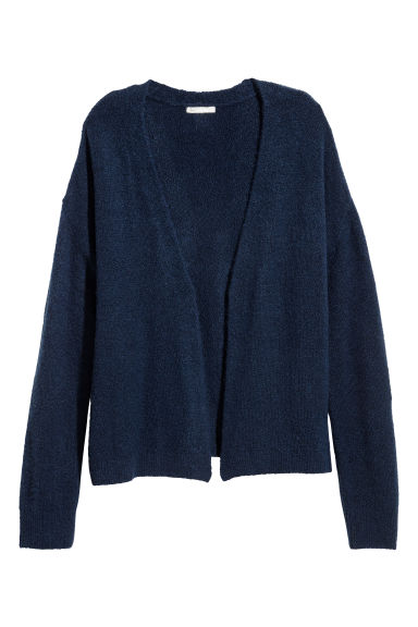 Knitted cardigan - Dark blue - Ladies | H&M CN