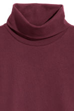 Polo-neck top - Burgundy - Ladies | H&M 2