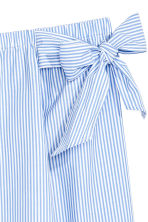 Off-the-shoulder blouse - Blue/Striped -  | H&M IE 2