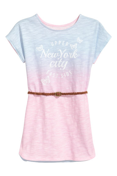 Jersey dress with print motif - Pink/Multicoloured - Kids | H&M