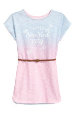 Jersey dress with print motif - Pink/Multicoloured - Kids | H&M 2