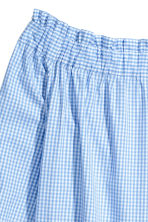 Off-the-shoulder blouse - Light blue/Checked - Ladies | H&M CN 3