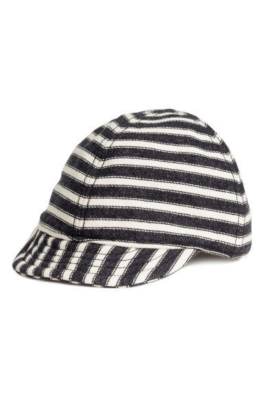 Cotton cap - Dark grey/Striped - Kids | H&M 1