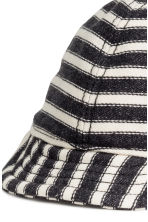 Cotton cap - Dark grey/Striped - Kids | H&M 3