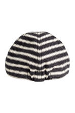 Cotton cap - Dark grey/Striped - Kids | H&M 2
