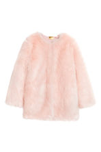 Faux fur jacket - Light pink - Ladies | H&M CN 2
