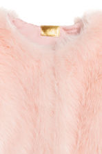 Faux fur jacket - Light pink - Ladies | H&M CN 3