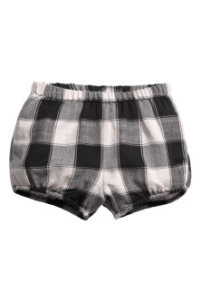 Checked Puff Pants