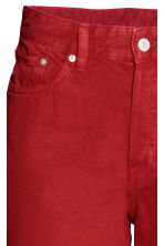 Vintage High Cropped Jeans - Rood - DAMES | H&M BE 4