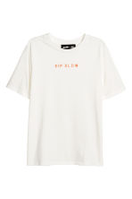 T-shirt with Printed Motifs - White -  | H&M CA 2