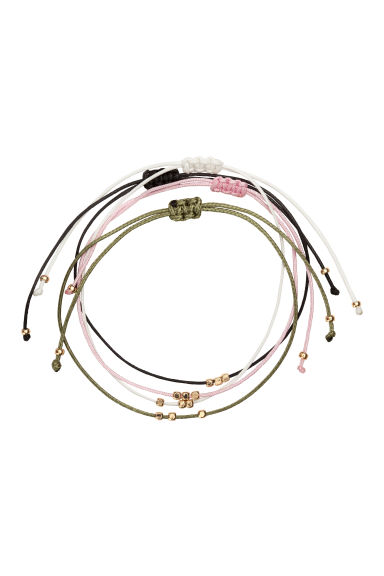 4-pack elastic bracelets - Black/Multicolored - Ladies | H&M CN 1