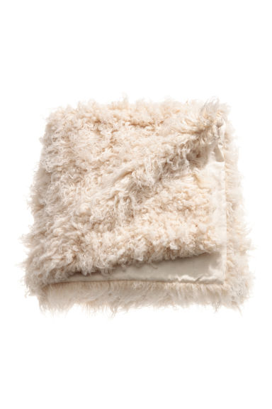 Faux fur blanket - Light beige - Home All | H&M CN