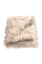 Faux fur blanket - Light beige - Home All | H&M IE 2