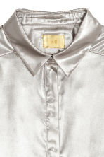 Shimmering metallic shirt - Silver-coloured - Ladies | H&M 3