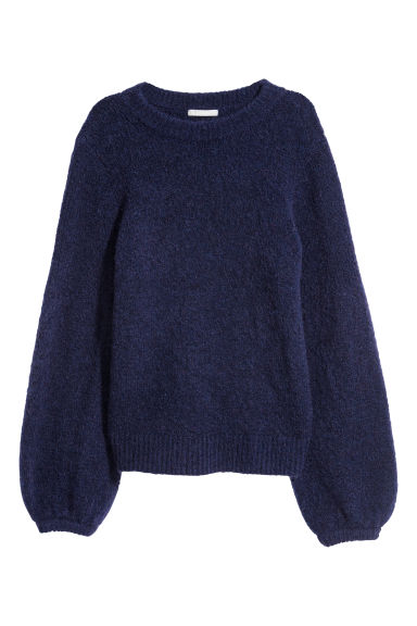Mohair-blend jumper - Blue - Ladies | H&M GB
