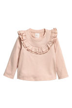 Frilled top - Powder pink -  | H&M CN 1