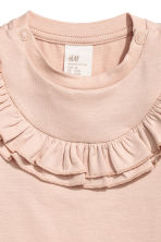 Frilled top - Powder pink -  | H&M CN 2