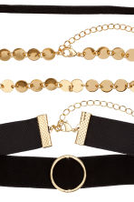 Choker, 3 pz - Dorato/nero - DONNA | H&M IT 2