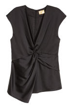 Satin top - Black - Ladies | H&M CN 2