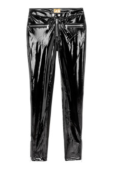 Slim patent trousers