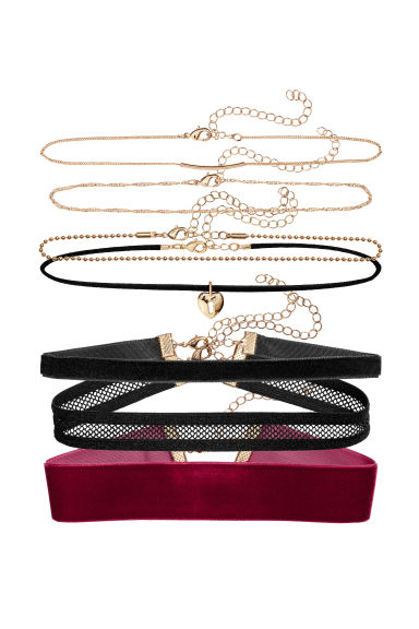 7-pack chokers - Black - Ladies | H&M