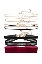 7-pack chokers - Black - Ladies | H&M CN 1