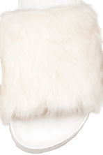 Slides with faux fur - White - Ladies | H&M 3