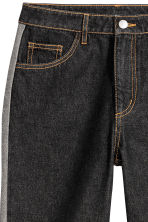 Straight Regular Jeans - Schwarz - DAMEN | H&M CH 3