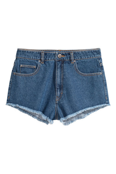 Denim shorts - Denim blue - Ladies | H&M IE