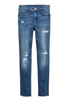 Skinny Fit High Worn Jeans