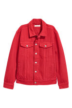 Denim jacket - Red - Ladies | H&M CN 2