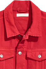 Denim jacket - Red - Ladies | H&M CN 3