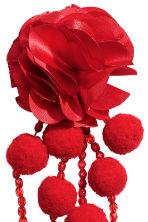 Pompom earrings - Red - Ladies | H&M 2