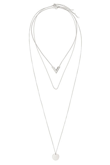3-pack necklaces - Silver-coloured - Ladies | H&M CN 1