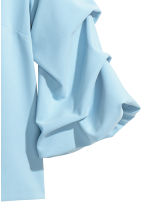 Top with draped sleeves - Light blue - Ladies | H&M 3