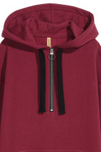 Oversized hooded top - Burgundy - Ladies | H&M IE 3