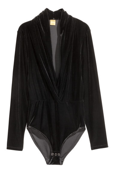 Velour body - Black - Ladies | H&M