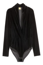 Velour body - Black - Ladies | H&M IE 2