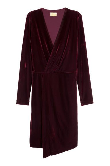 Abito in velour - Bordeaux - DONNA | H&M IT