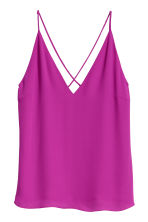 V-neck strappy top - Magenta - Ladies | H&M IE 2