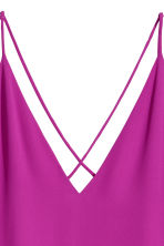 V-neck strappy top - Magenta - Ladies | H&M IE 3
