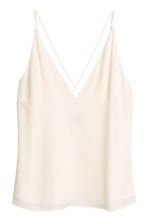 V-neck strappy top - Natural white - Ladies | H&M 2