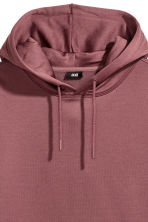 Wijde capuchonsweater - Donker oudroze - HEREN | H&M NL 3