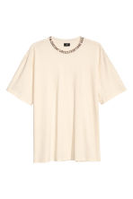 Wide T-shirt - Natural white - Men | H&M 2