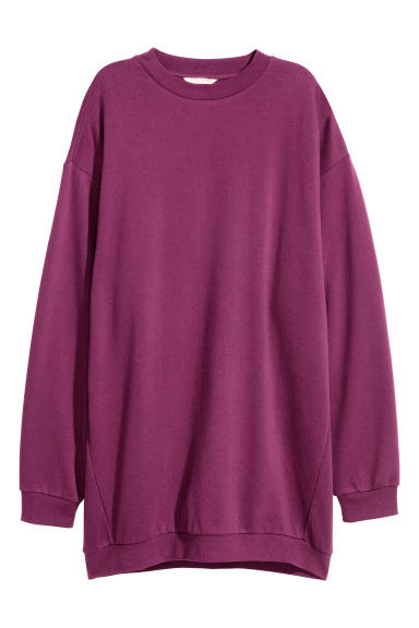 Oversized sweatshirt - Plum - Ladies | H&M