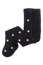 3-pack fine-knit tights - Black/Stars - Kids | H&M 2