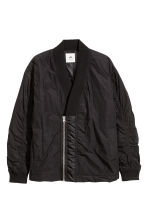 Shawl-collar bomber jacket - Black - Men | H&M 2